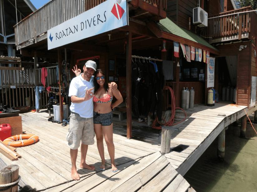 Fernanda PADI Open Water Roatan Divers