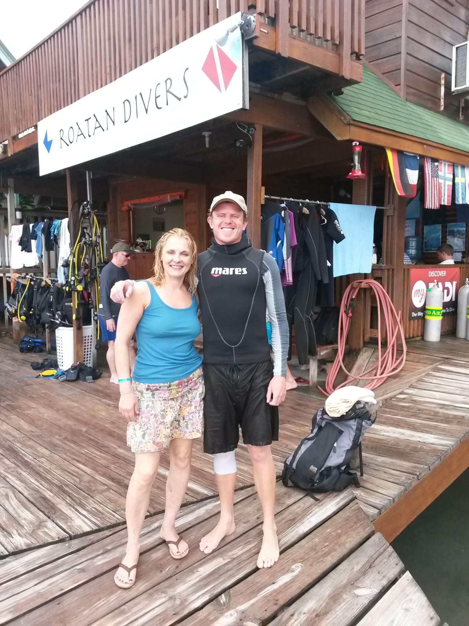 PADI Open Water Diver referral Roatan Divers