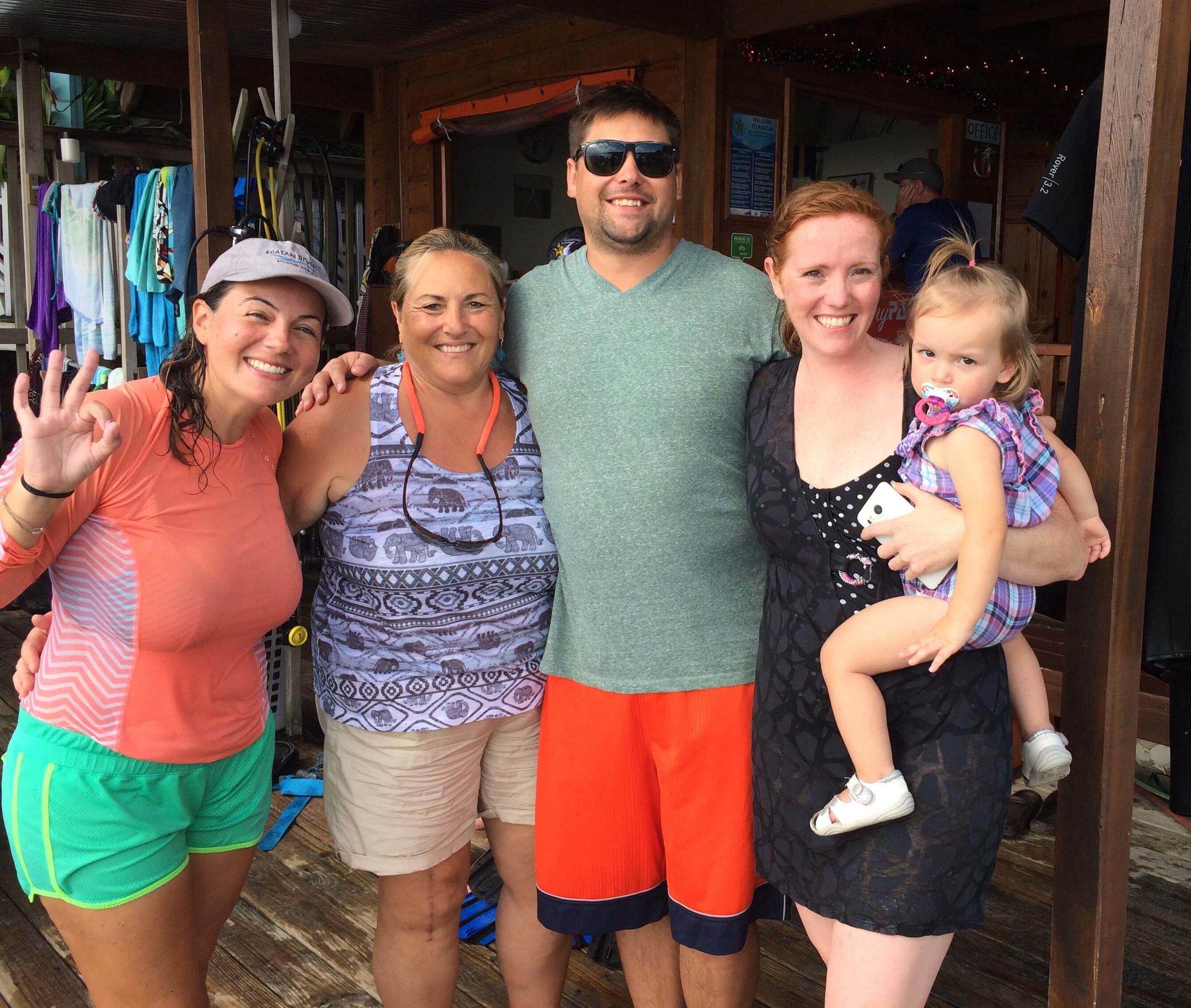 family friendly dive center Roatan Divers