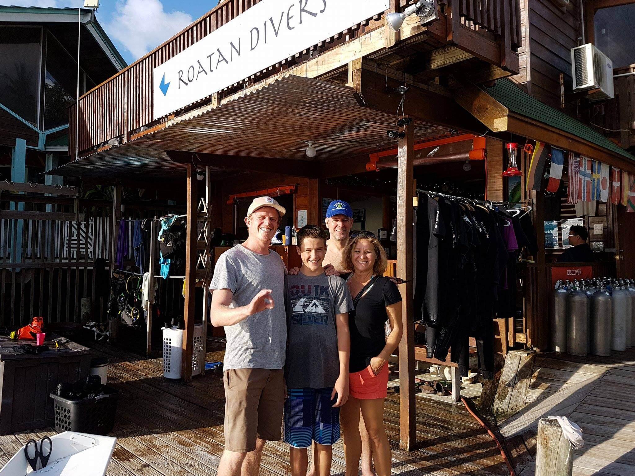 PADI Junior Open Water diving course Roatan
