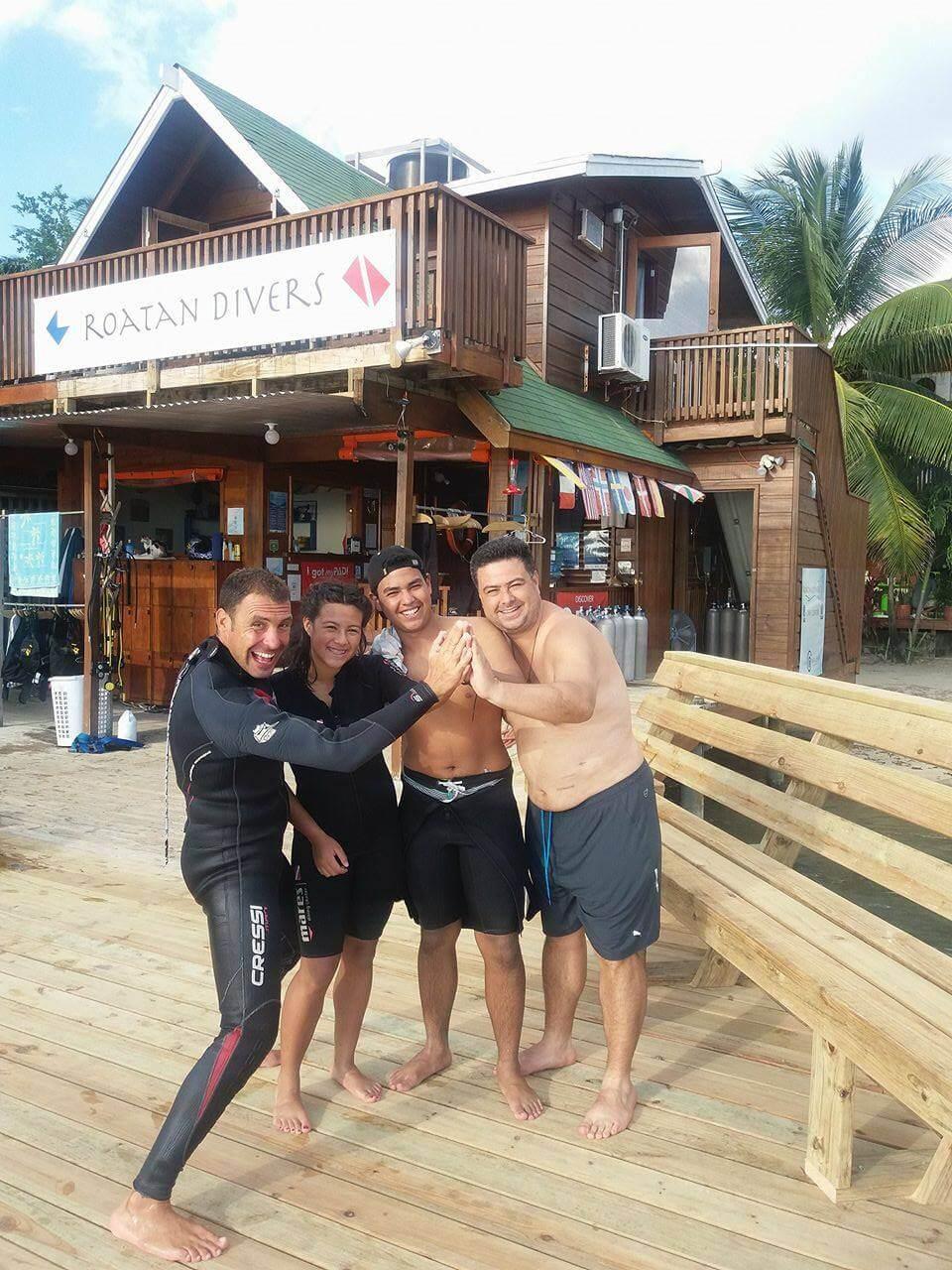 open water diver roatan kids youth