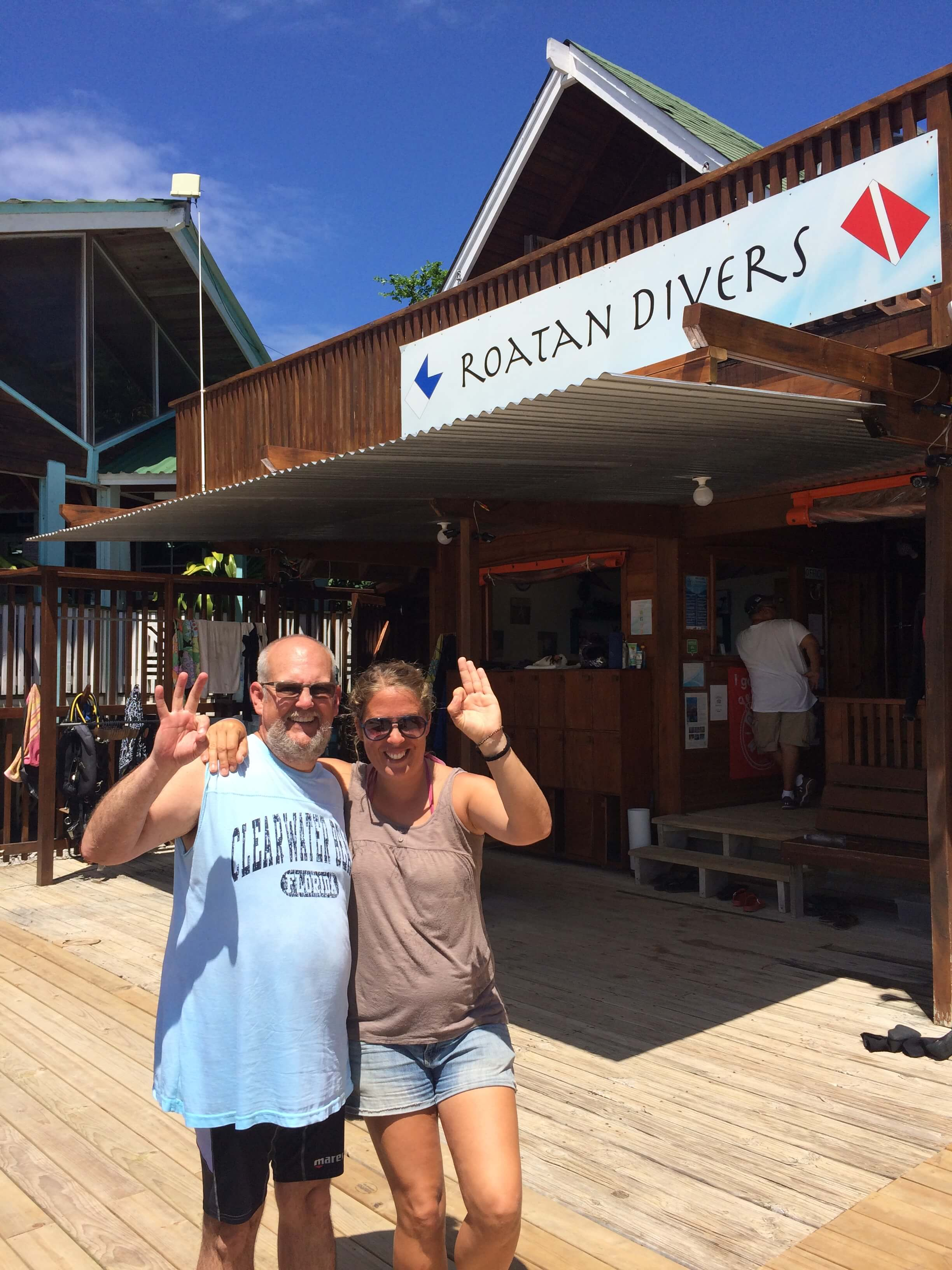 Roatan open water PADI course diving