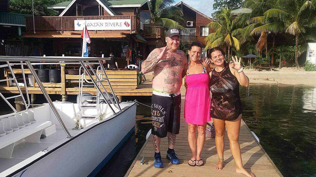 try scuba diving roatan cruise ship