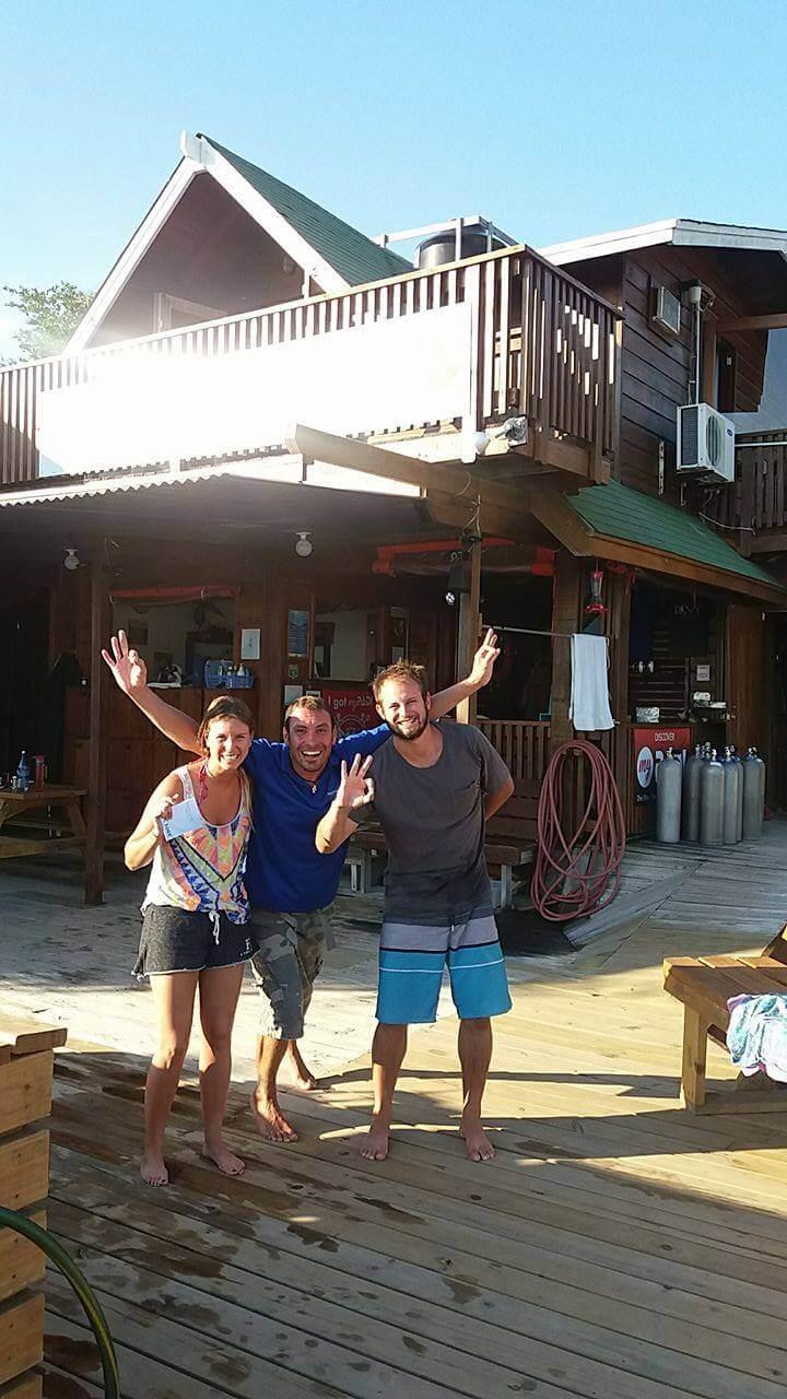 padi open water course spanish roatan