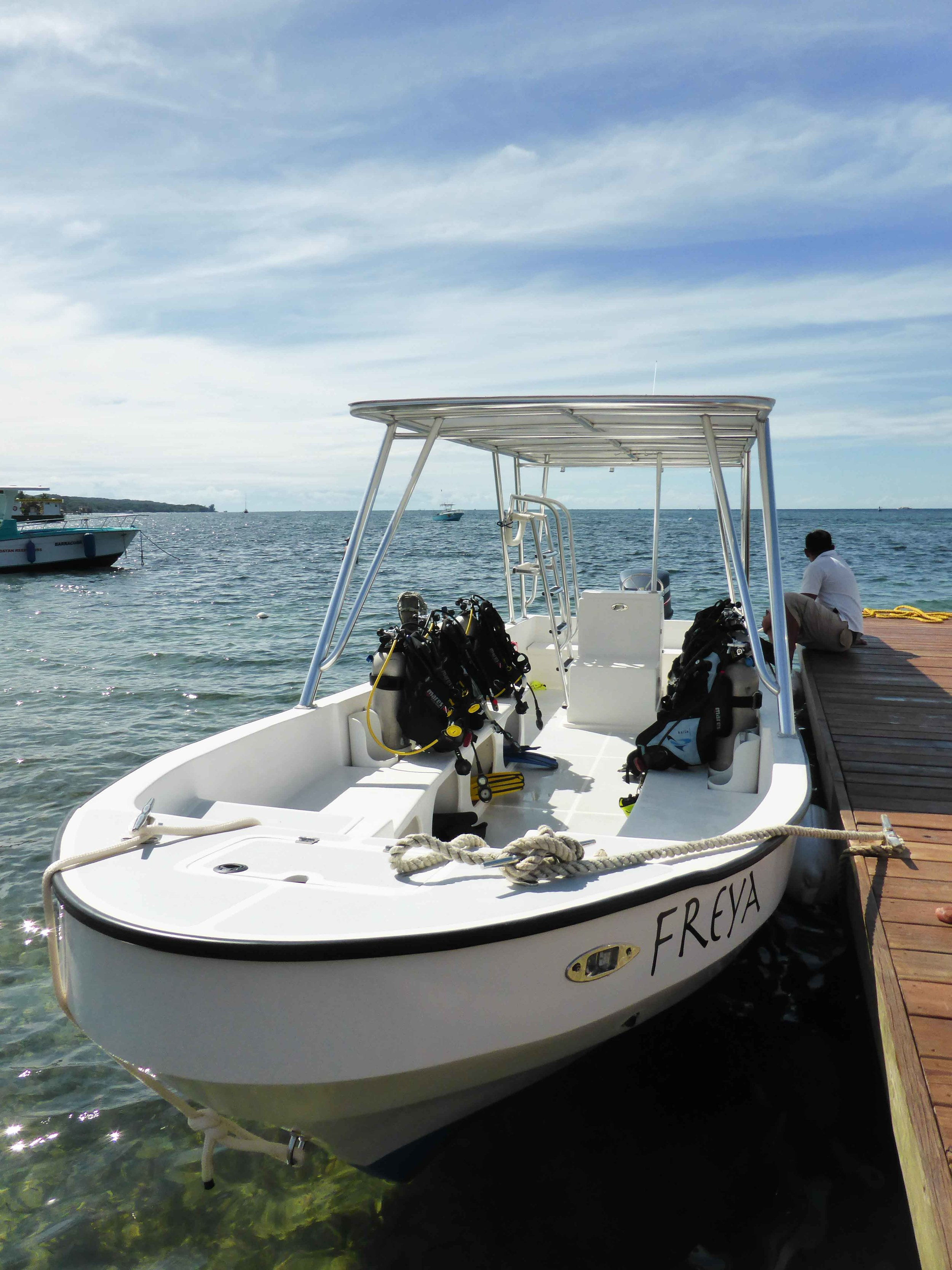 Roatan Divers boat, Freya
