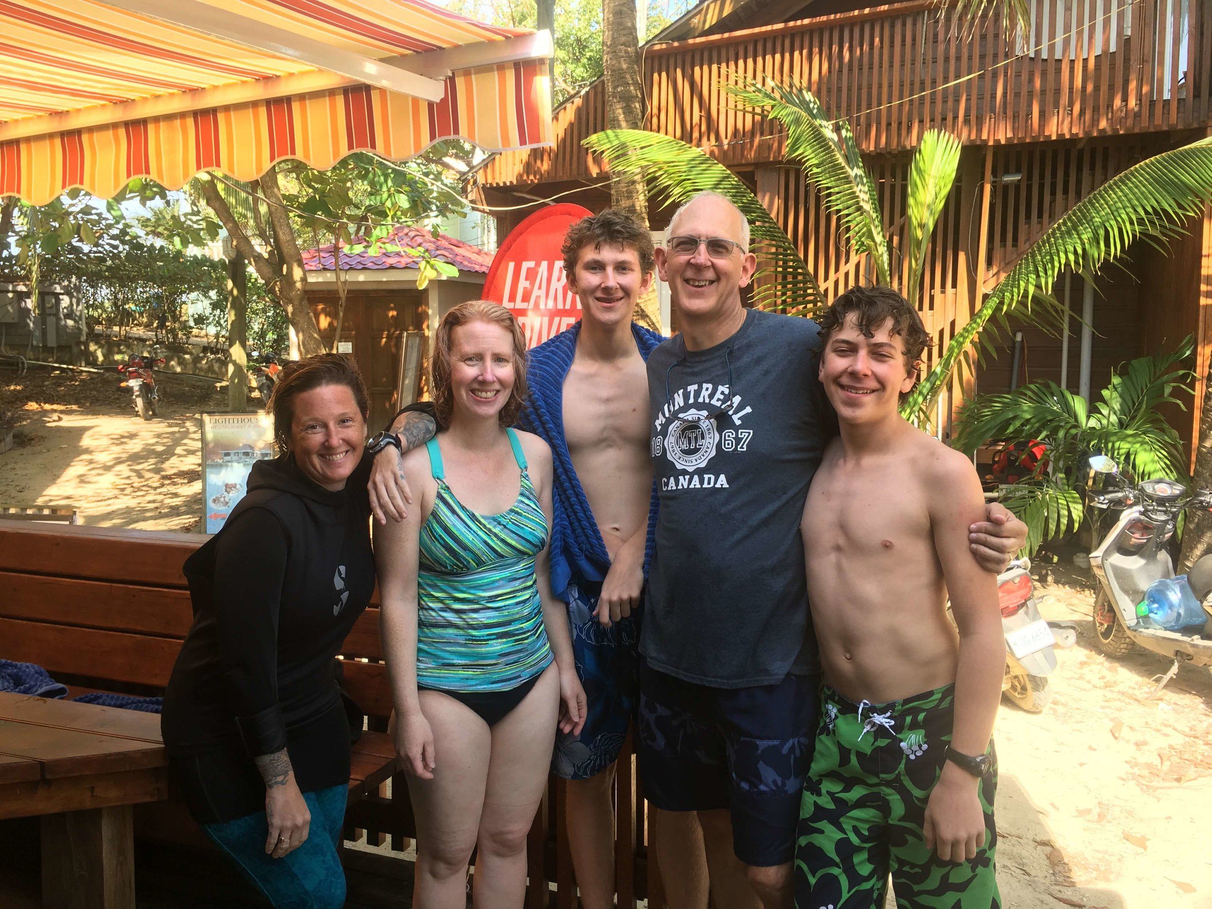 Susan, Brad, Adam, and Will tried Scuba Diving!