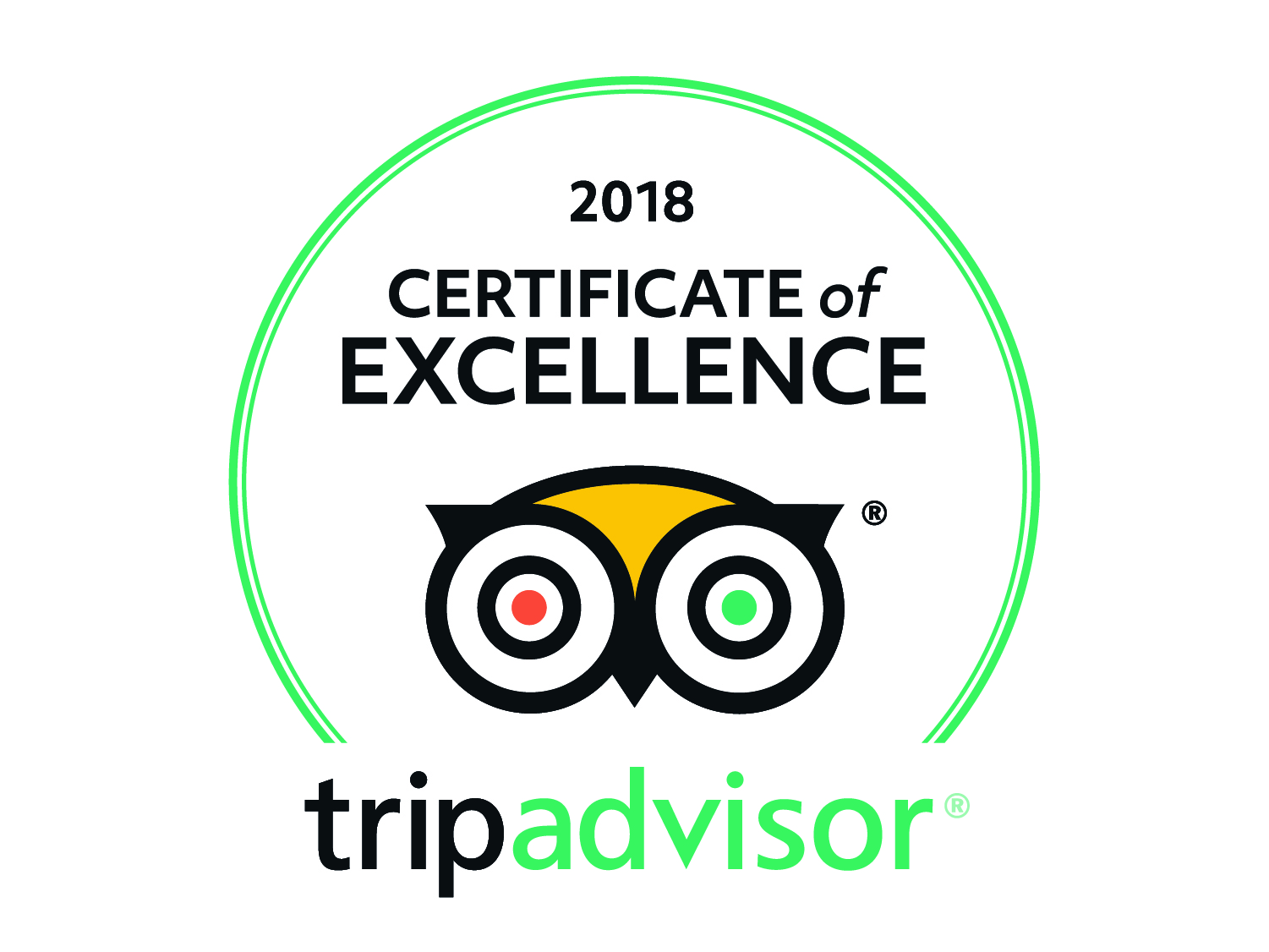 Roatan Divers 2018 TripAdvisor Certificate of Excellence