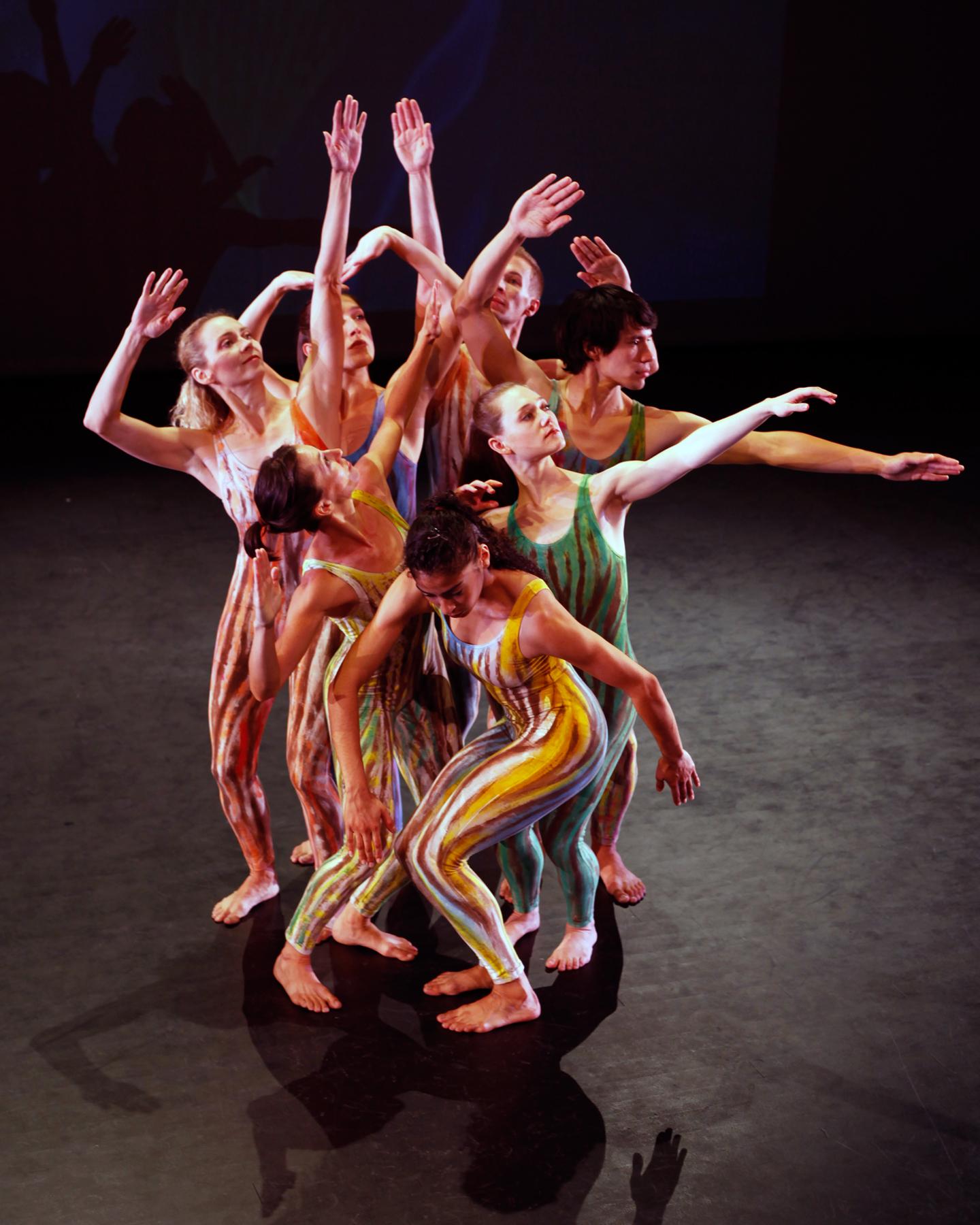 """""""Rainwood"""" Choreographer: Ze'eva Cohen. Dancers: RDT. Photo: Mickey Hoelscher"""