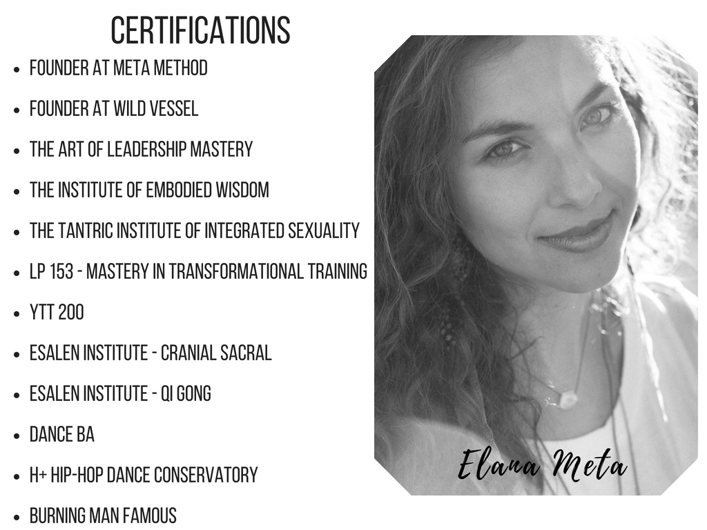 PROGRAMS - 1. PERSONAL DEVELOPEMENT - LIFE SHIFTS2. SEX AND EMPOWERMENT COACHING (SINGLES AND COUPLES)3. META METHOD - EMBODIMENT PRACTICE(All programs can be designed and curated specifically for each individual.)