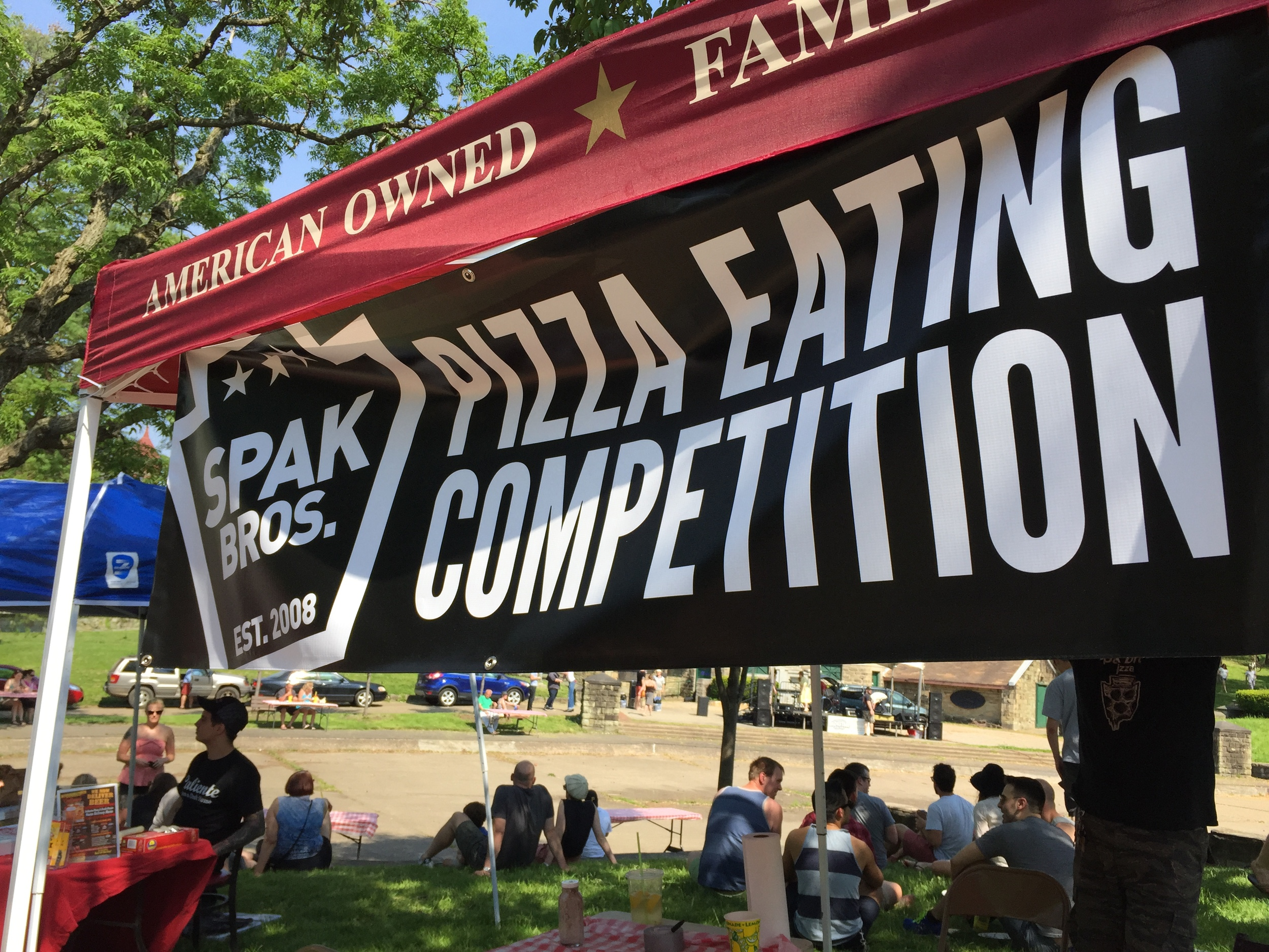 Spak Brothers organized a pizza eating contest at this year's Pizza Fest.