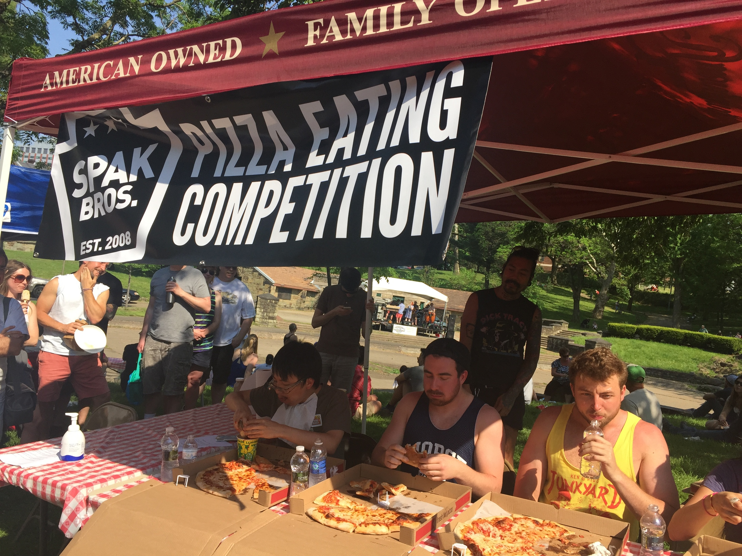 Spak Brothers Pizza Eating Competition
