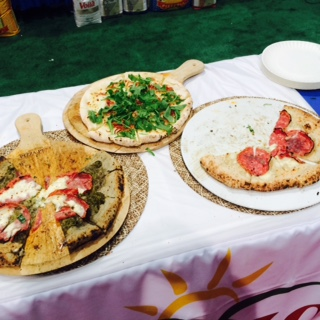 Pizzas at Pizza Expo. Photos by Tom Tallarico