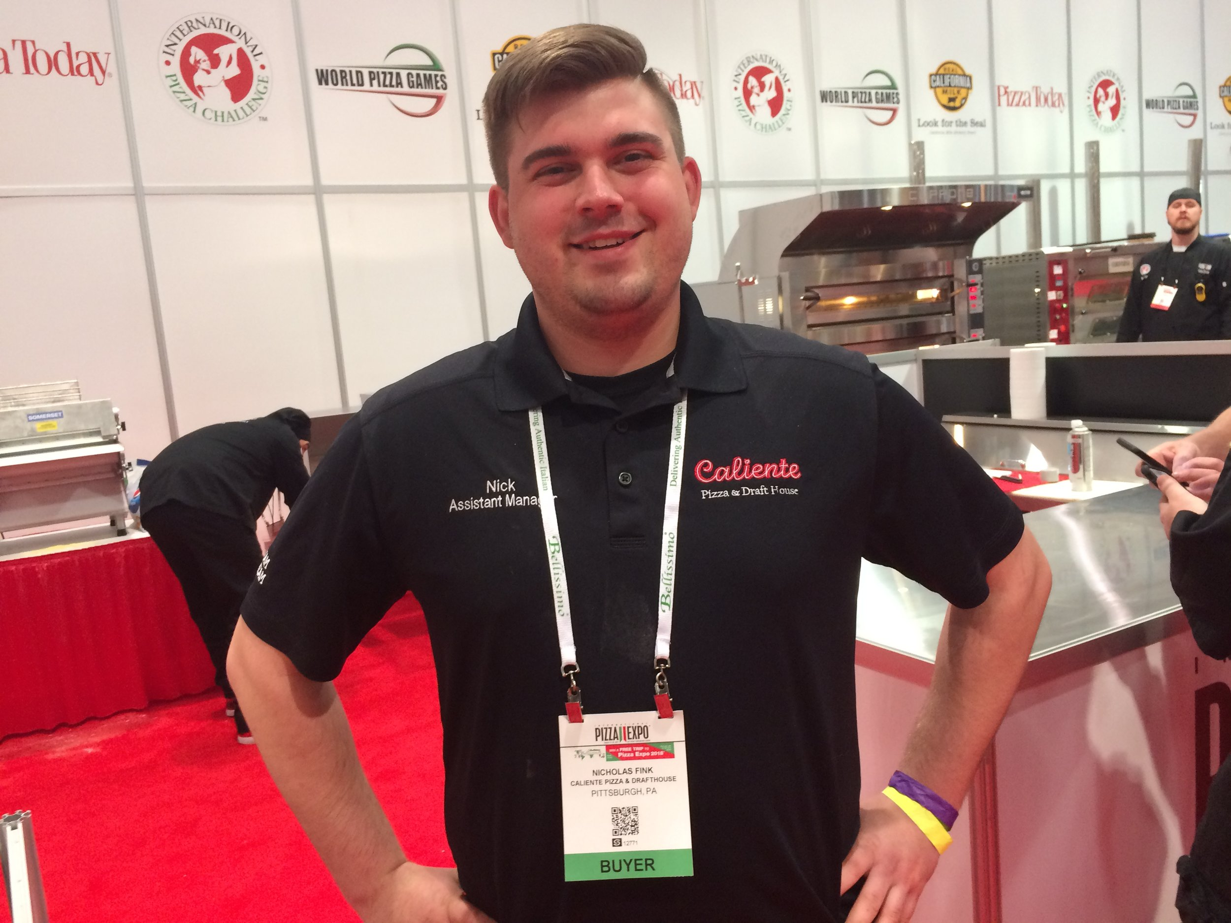 Nick Fink wins first in Northeast Region Tradtional Pizza at the 2017 Pizza Expo