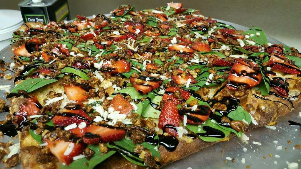Matt Hickey's pizza entry into the pan pizza competition at the 2017 Pizza Expo