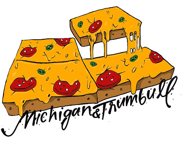 Michigan and Trumbull Detroit style Pizza