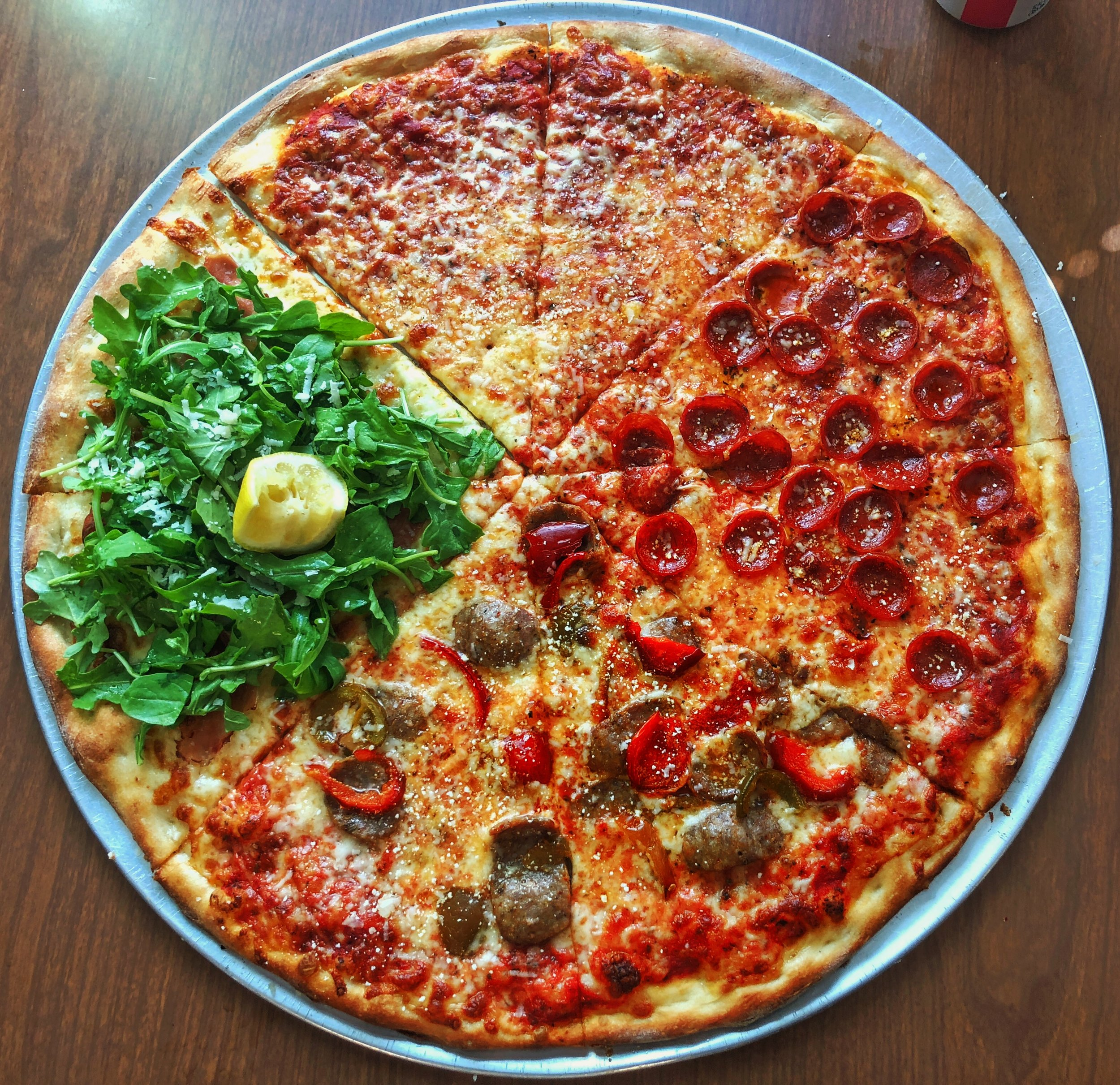 The most beautiful pizza from Rockaway. It covers the bases - from plain to the outrageous.