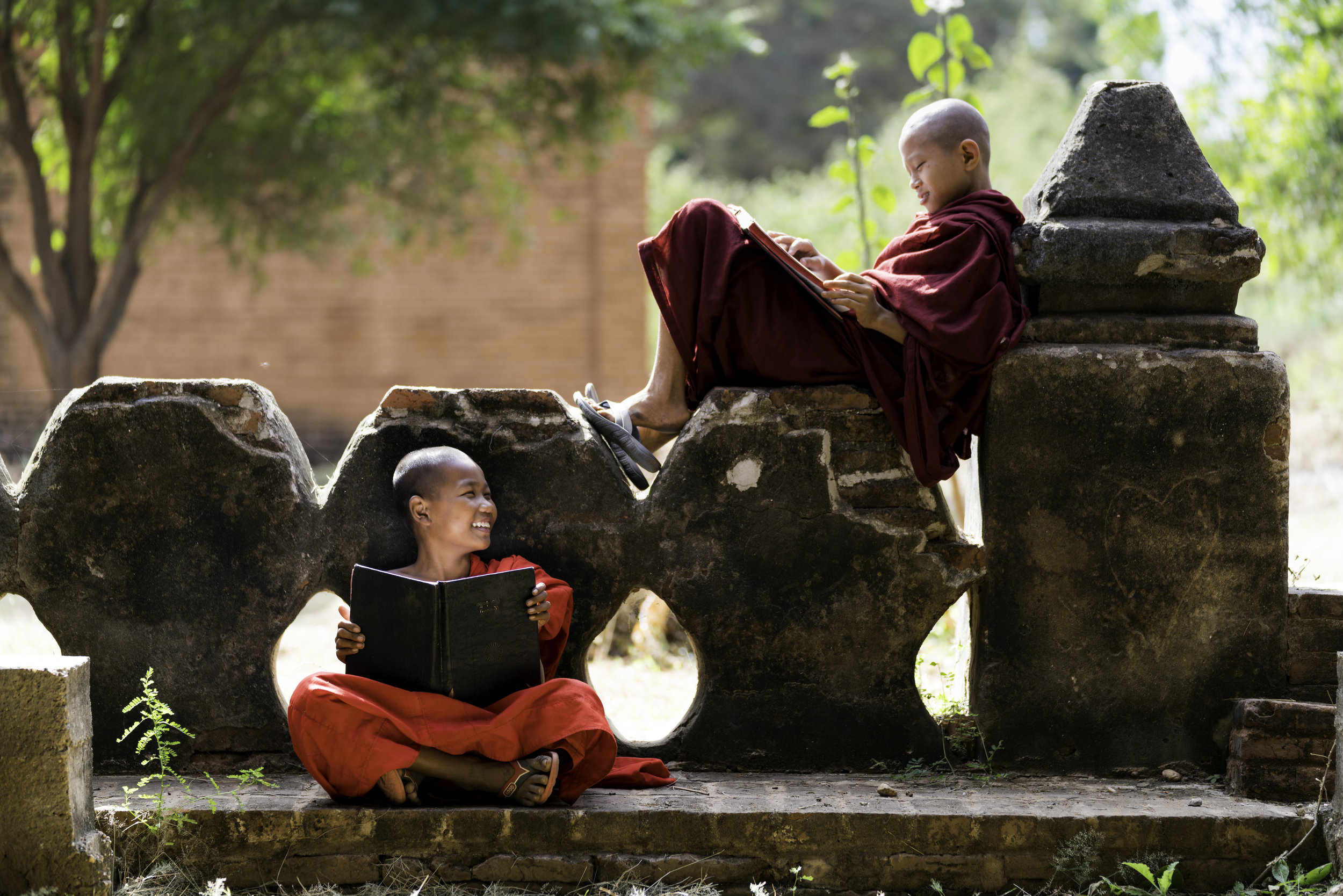 A Slice of Life in Bagan!  Visit the local temples in the hopes of catching a slice of the local life.