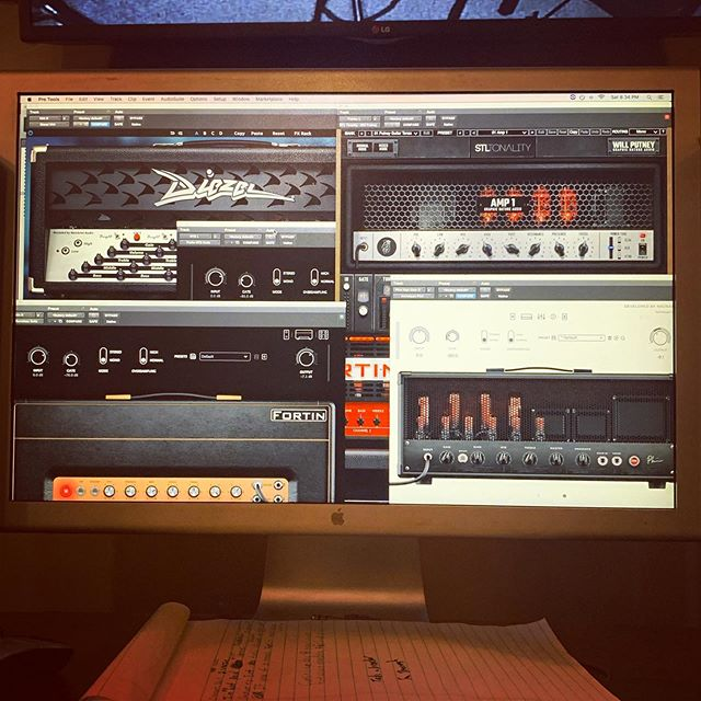 Playing with some toys! #guitartone #plugins #protools #central8studios #fortin #brainworx #stltones