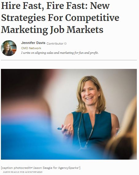 Annelle Barnett of Marketing Mob speaks to new hiring strategies in today's competitive market for marketing talent. Photo credit:  Jason Seagle  for AgencySparks.