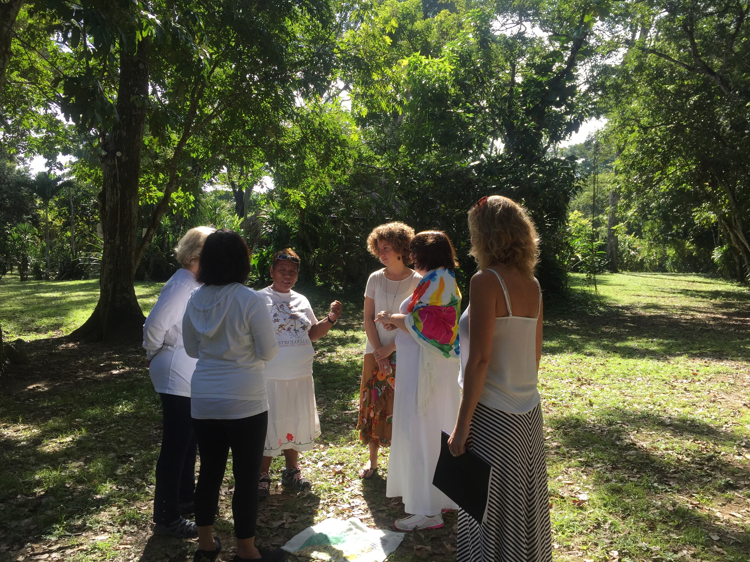 Here is our intriguing Mayan Healer Rosario during our healing circle, beginning our day with Mayan Wisdom, Maya Massage and Messages from our Soul.