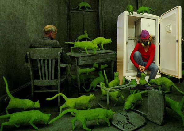Photoshopped parody of Radioactive Cats (Mo Rigley)