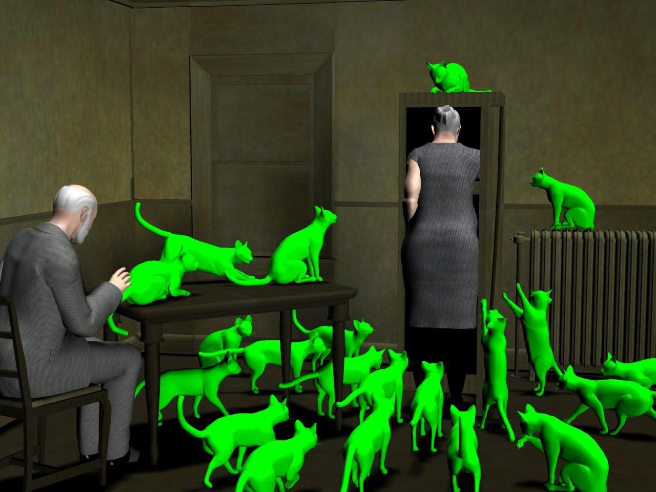 Computer Generated copy of Radioactive Cats (EnglishBob on Deviant Art)
