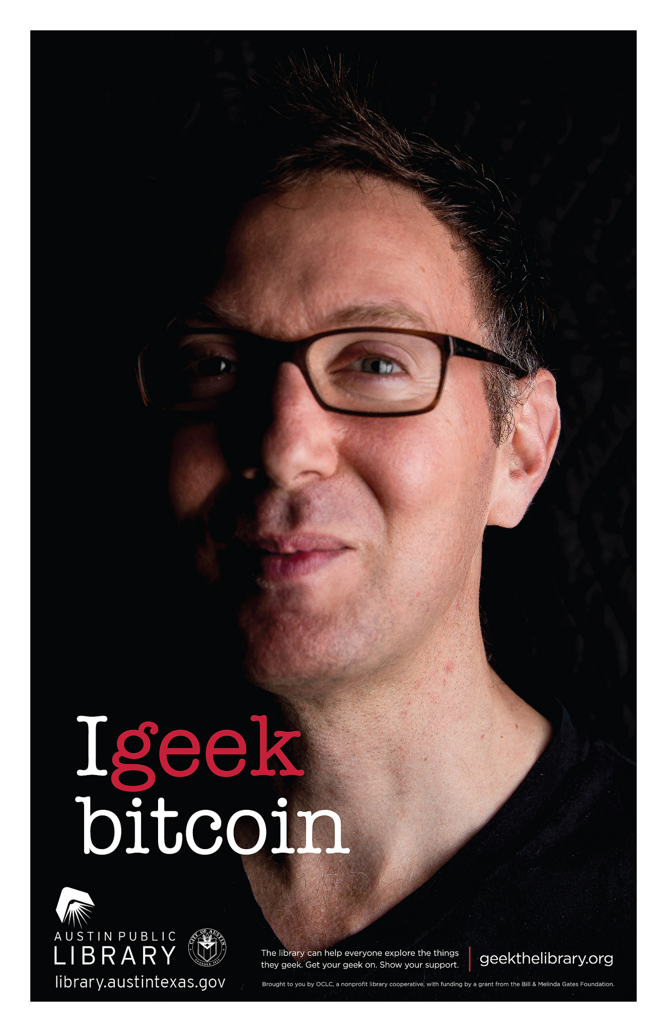 Bitcoin Cash consultant Scott Rose geeking out for the Austin Public Library.