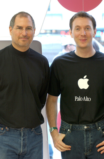 Steve Jobs and Scott Rose, working together in 2001. For 6 years, Scott worked with Steve Jobs and the Apple Executive Team as one of Apple's top professional speakers nationwide.