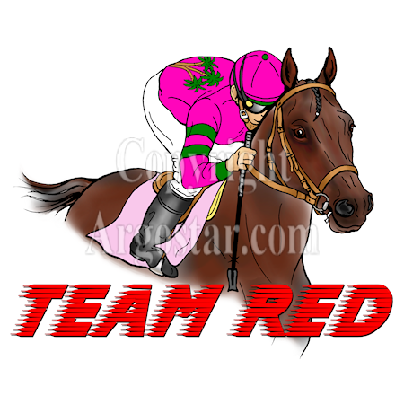 Team Red Horse Racing Logo - Style: graphic, color