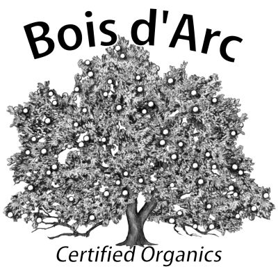 Bois d'Arc logo - Style: pen & ink