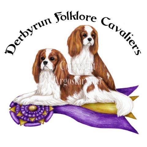 Derbyrun Folklore Cavaliers logo - Style: colored pencil
