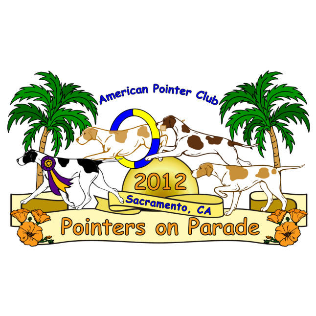 American Pointer Club 2012 National Specialty logo - Style:  - Style: graphic, color