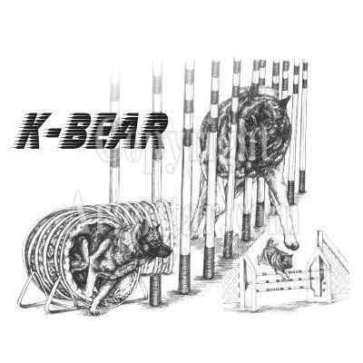 K-Bear logo - Style: pen & ink