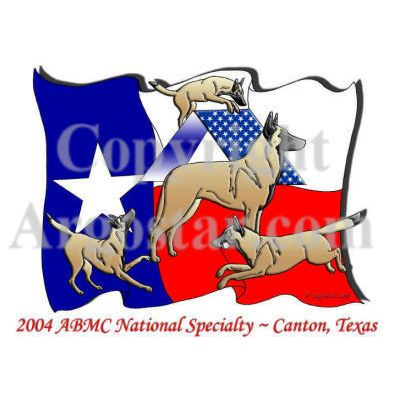 American Belgian Malinois 2004 National Specialty Logo