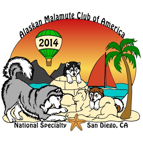 Alaskan Malamute Club of America 2014 National Specialty Logo