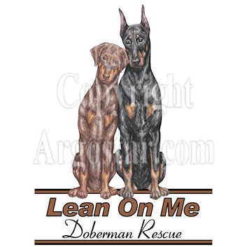 Lean on Me Doberman Rescue Logo