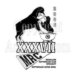 Medallion Rottweiler Club 2005 Specialty Show Logo