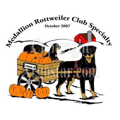 Medallion Rottweiler Club 2007 Specialty Show Logo