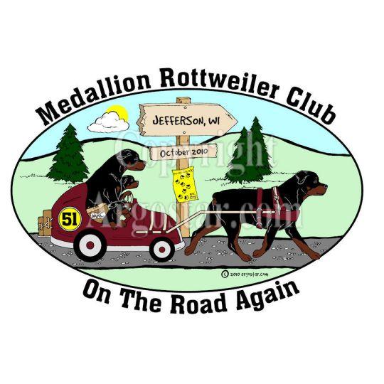 Medallion Rottweiler Club 2010 Specialty Show Logo