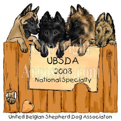 United Belgian Sheepdog Association 2008 National Specialty Logo
