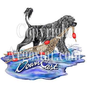 DownEast Portuguese Water Dogs Logo