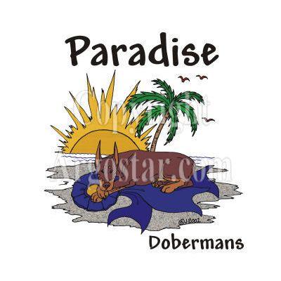 Paradise Dobermans Logo