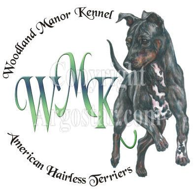Woodland Manor Kennel American Hairless Terriers Logo
