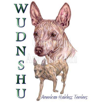 Wudnshu American Hairless Terriers Logo