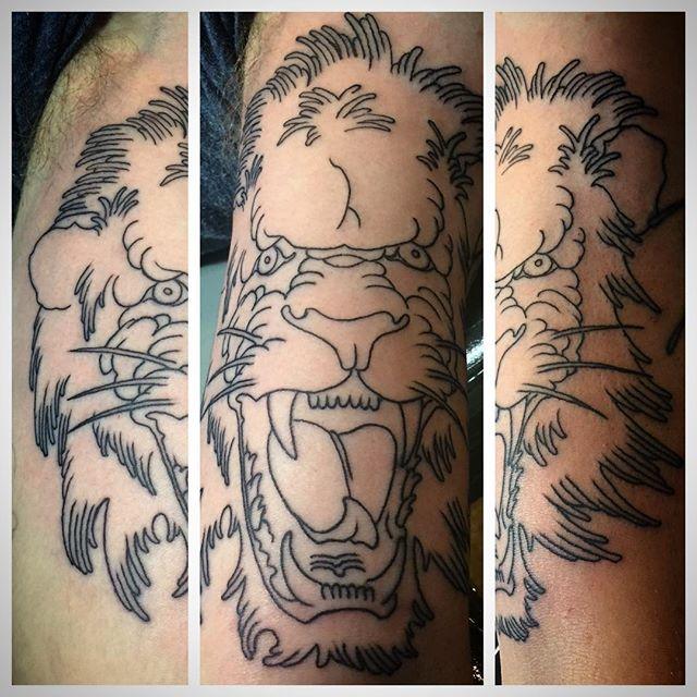 SOLD! #liontattoo #tattoo #lines #artcore #sosoft