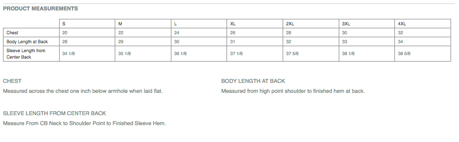 The sizes above are all men's sizes.