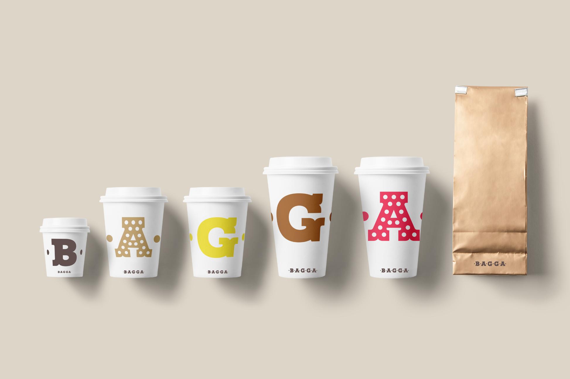 Bagga Caffe logo packaging