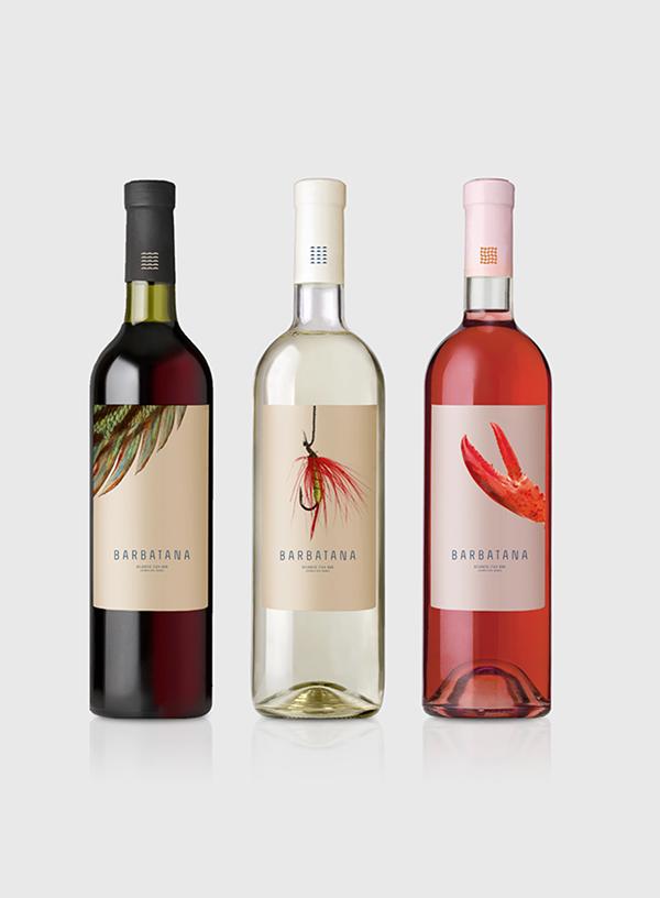 Barbatana restaurant brand packaging wines
