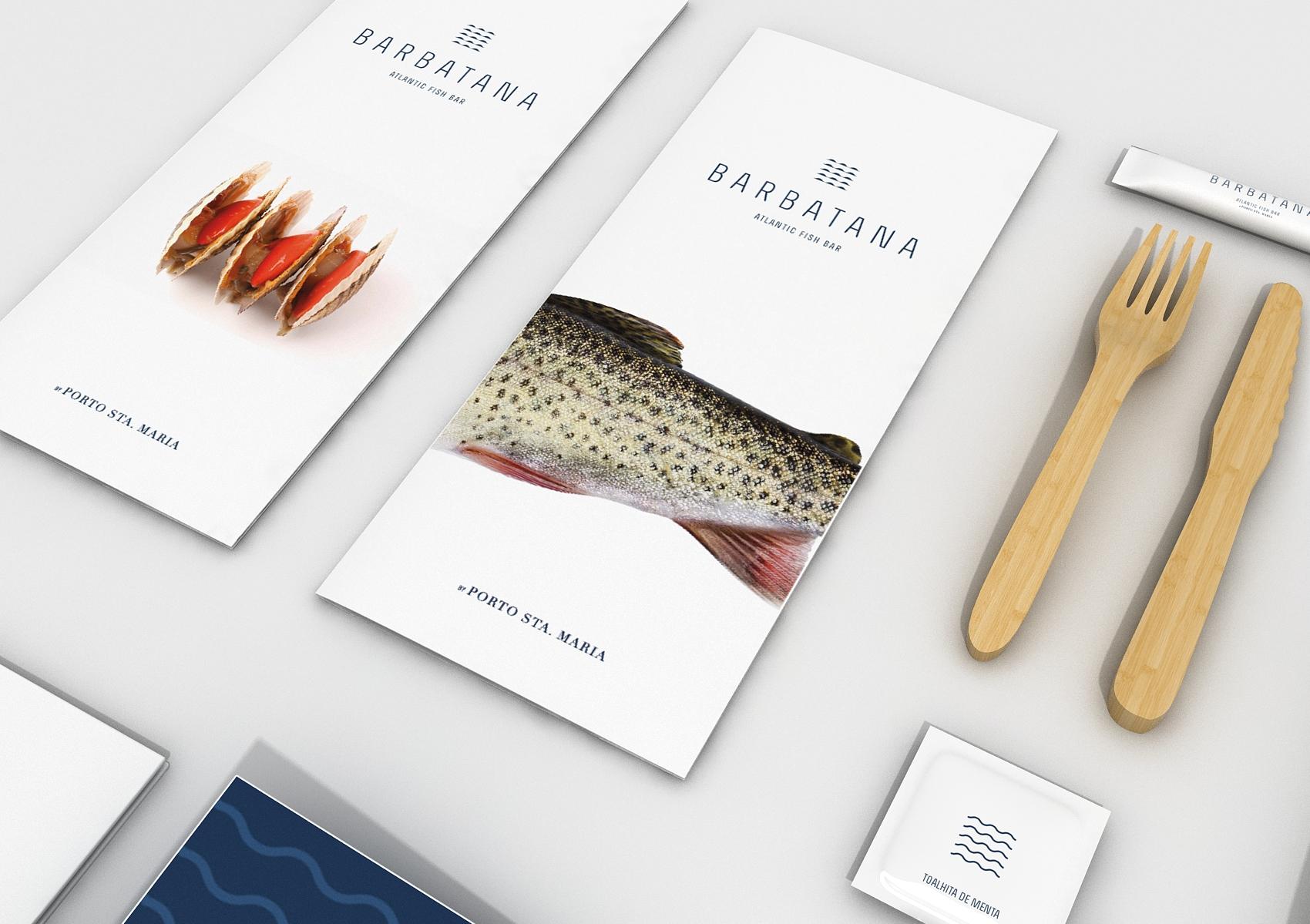 Barbatana restaurant brand menus