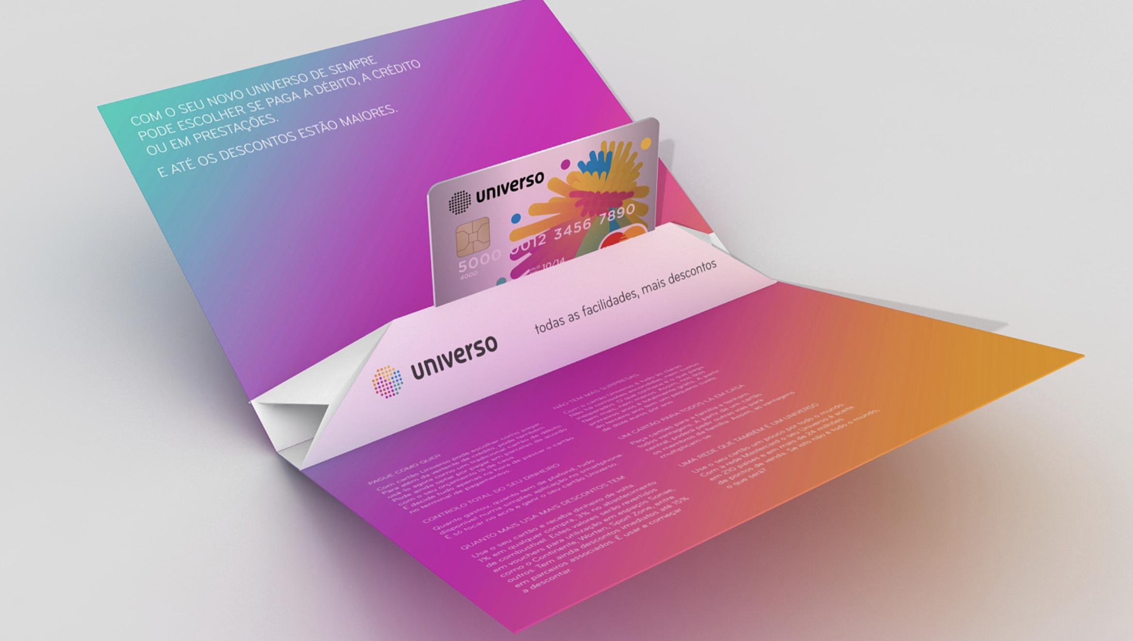 Branding Universo card cartão